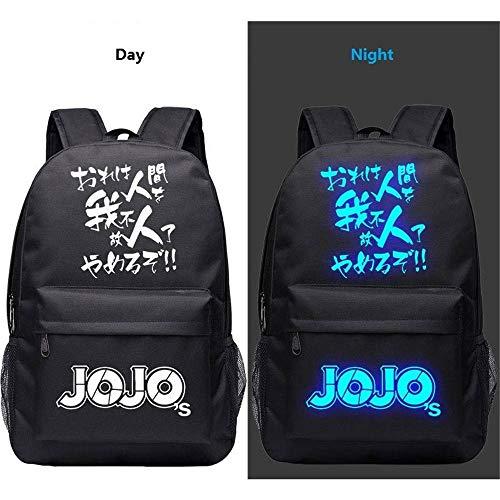 JoJo's Bizarre Adventure Luminous Starry Sky Lightning Plaid Prints Rucksack Daypack Laptop Bag Satchel College Bag Book Bag (Joseph Kostüm Muster)