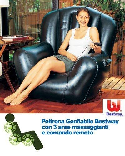 POLTRONA-GONFIABILE-PER-MASSAGGIO-RELAX-COMFORT-CON-TELECOMANDO-BORSA