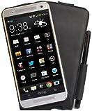 Perfect Case exklusive Flip Echtleder Tasche mit Stifthalterung für HTC One Mini schwarz