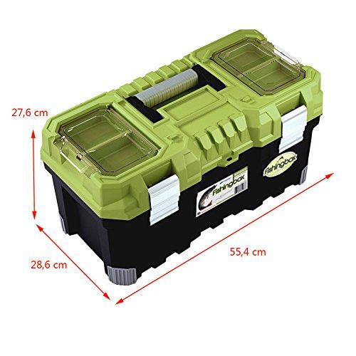 Angelkoffer Fishingbox Werkzeugkoffer Werkzeugkasten Sortimentskasten Werkzeugbox 55x29x28 cm - 2