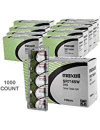 1000 pc Maxell SR716SW 315 SR62 SR716 Silver Oxide Watch Battery