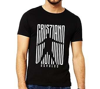 bluehaaat CR7 Cristiano Ronaldo Juventus Unisex Custom Name Print Option Black Cotton Tshirt    Available in Small, Medium, Large, X-Large, XX-Large for Men