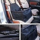 Auto Safety Sitzerhöhung Travel Tasche Cage Matte Cover Kissen mit Sicherheit Sicherheitsgurt Geschirr für Haustier Hund Puppy Katze schwarz