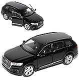 alles-meine.de GmbH Audi Q7 4M SUV Schwarz 2. Generation Ab 2015 ca 1/43 1/36-1/46 Welly Modell Auto mit individiuellem Wunschkennzeichen