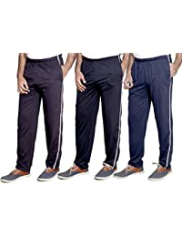 Indistar Men's Premium Cotton Lower with 1 Zipper Pocket and 1 Open Pocket Pack of -3
