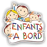 Sticker Enfants à Bord - Autocollant bébé à Bord (Modèle 3)