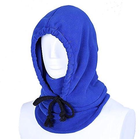Hiver Thermique Cagoule Balaclava Hood Unisexe Polaires Facial Masque Coupe-vent Chapeau pour Activités de Plein Air-Bleu