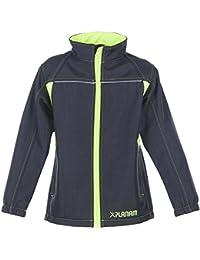 Planam Softshell Jacke Junior, größe 122 / 128, anthrazit / gelb / mehrfarbig, 6130122