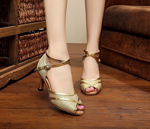 Miyoopark ,  Damen Tanzschuhe Gold-7.5cm Heel