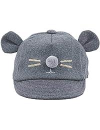 Cinnamou Sombreros y Gorras para bebés niña Niñas Niños Divertido Conejito  Orejas Gorro de Algodón Gorra de béisbol… aa845aefd13