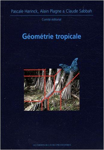 Géomètrie tropicale: Journées mathématiques X-UPS 2008 par EDITIONS DE L'ECOLE POLYTECHNIQUE