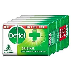 Dettol Original Germ Protection Bathing Soap bar, 75gm (Pack of 5)