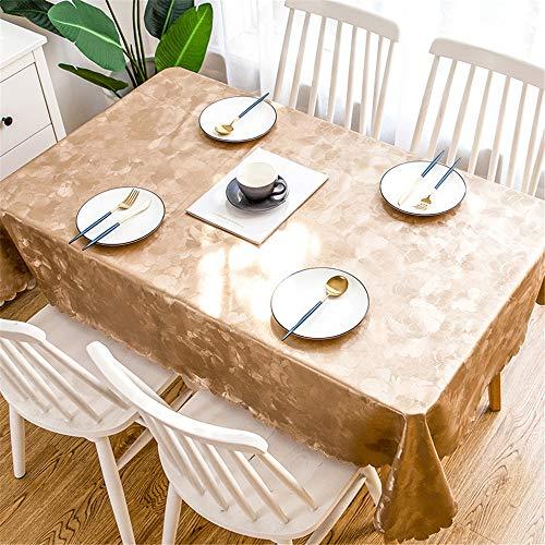 DHHY PVC Tischdecke Wasserdicht und Ölbeständig Rechteckige Kaffeetischdecke Wohnkultur Tischdecke E 90X135 cm / 35X53in