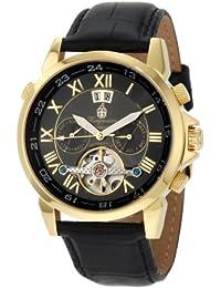 Burgmeister California Bm 118-222 - Reloj de caballero automático, correa de piel color negro