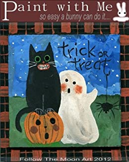 Paint With Me Trick or Treat Acrylic Paint Lesson by [themoonart, Follow]