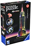 Ravensburger 12566 1- Empire State Building bei Nacht - Night Edition 3D Puzzle Bauwerke