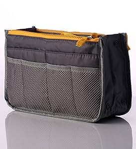 4 Pcs Lifestyle-You GREY Color Handbag Travel Storage Organizer Purse Switcher Convenient Bag Compact Stylish Trendy best for keys cosmetics electronics make-up kits toiletries accessories