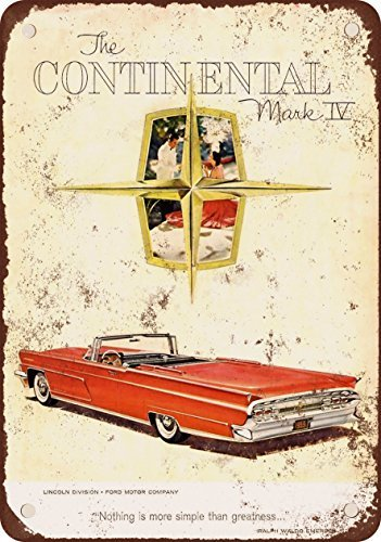 1959Lincoln Continental Mark IV vintage look Reproduction metal Signs 30,5x 40,6cm
