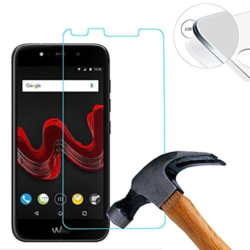 Lusee 2 x pack protezione schermo vetro temperato per wiko wim lite 5.0 pollice film ultra-duro vetro 9h