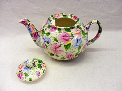 2 Cup Teapot In Pink And Blue Sweet Pea Design By Heron Cross Pottery Home Kitchen Teapots