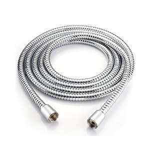 tuyau de douche pommeau flexible hose shower acier inox 3m. Black Bedroom Furniture Sets. Home Design Ideas
