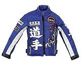 Kinder Motorradjacke in blau, Racer Jacke, Bikerjacke, Racingjacke, (S)