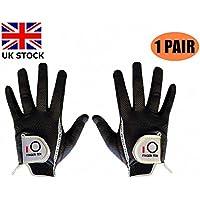 Finger Ten - Guantes de Golf para Hombre, 2 Unidades, con Agarre de Lluvia húmeda, Color Negro y Gris, Talla S, M, XL, Color Gris, tamaño M-1 Pair