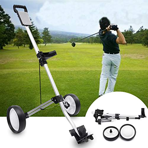 olley Folding Zweirad Golf Push Pull Cart Tragbare Golf Trailer ()