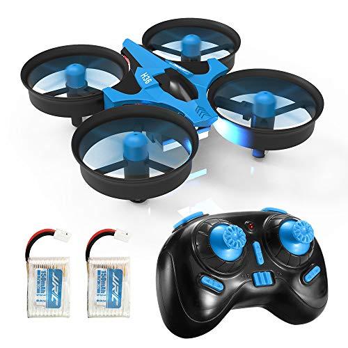 REDPAWZ H36 Mini Drone Quadcopter 2.4G 4CH 6 Assi modalità Headless Telecomando Nano Quadcopter RTF Mode 2,Blu Adatto per Principianti,Buon Regalo per Bambini-2 Batterie
