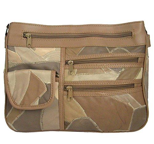 211dc3692 Hey Hey Handbags , Damen Umhängetasche Beige Style 2 - Mixed Beiges M