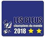 Football Tapis De Souris - Les Bleus Champions du Monde 2018 (23 x 19 cm)