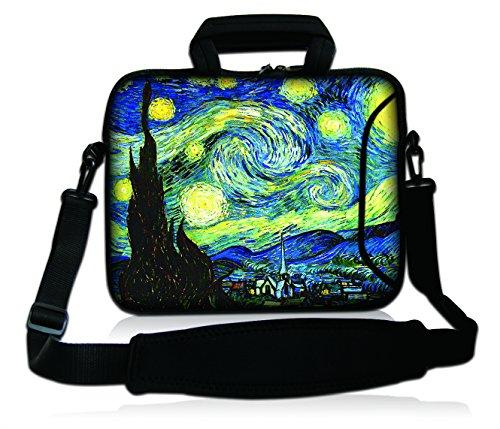 Multi-farbigen Damen-handtaschen (DCCN 17 Zoll / 17,3 Zoll Laptoptasche Neopren Notebooktasche mit Zubehörfach und Schultergurt)