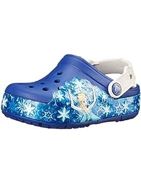 Crocs lights Frozen K, Sabots Mixte Enfant, Blau (Cerulean Blue/Oyster 4BE), 27/28