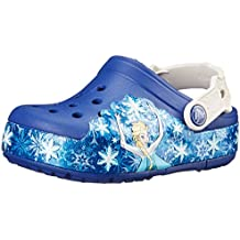 crocs Lights Frozen K Sabots Mixte Enfant Blau (Cerulean Blue/Oyster 4BE) 27/28