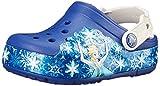 Crocs CrocsLights Frozen Clog Kids, Mädchen Clogs, Blau (Cerulean Blue/Oyster), 22/23 EU