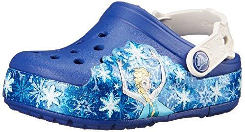 Crocs crocslights frozen k, zoccoli e sabot, unisex - bambino, blu (cloy), 23-24