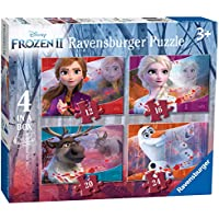 Ravensburger 3019 Disney Frozen 2, 4 in a Box (12, 16, 20, 24pc) Jigsaw Puzzles,