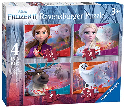 Ravensburger - Puzzle Frozen 2, pack de 4 (03019)