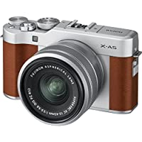 Fujifilm X-A5 (Brown) with Silver XC 15-45 lens