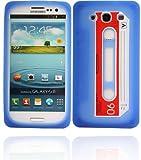 Twins MC Blue für Samsung Galaxy S3 Blaue Silikonhülle im Kassetten Retro-Design Samsung Galaxy S3 (i9300), Galaxy S3 LTE (i9305), Galaxy S3 Neo (i9301) Tasche, Handytasche, Etui, Case, Holster, Schutzhülle