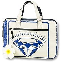 ed4353f662444 KHMAI Upcycling Laptop-Tasche  Diamond Blau  13   - Fair Trade  Computertasche