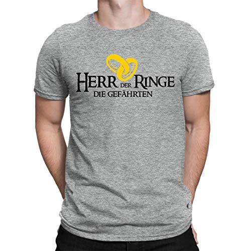 Junggesellenabschied T-Shirt Der Herr Der Ringe - Die Gefährten - Herren Fun T-Shirt Zum JGA - Erhältlich in 15 Farben (L)