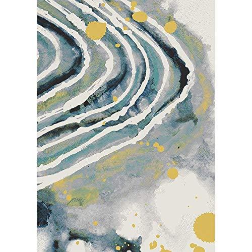 ZLL Startseite Wohnzimmer Teppich, Wohnzimmer Wohnzimmer Couchtisch Sofa Kissen Geometrische Muster Moderne minimalistische Wohnzimmer Schlafzimmer Computer Stuhl Pad Rutschfeste Einfache Persönlichk - Zimmer Staubsauger Im