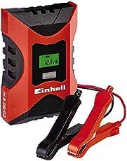 Einhell Batterie Ladegerät CC-BC 6 M (für Batterien von 3 bis 150 Ah, Ladespannung 6 V/12 V, Winterlademodus, LCD-Batteriespannungs- und Ladefortschrittsanzeige), 1002231