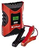 Einhell Batterie Ladegerät CC-BC 6 M (für Batterien von 3 bis 150 Ah, Ladespannung 6 V / 12 V, Winterlademodus, LCD-Batteriespannungs- und Ladefortschrittsanzeige), 1002231