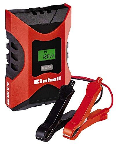 einhell batterie ladegeraet Einhell Batterie Ladegerät CC-BC 6 M (für Batterien von 3 bis 150 Ah, Ladespannung 6 V / 12 V, Winterlademodus, LCD-Batteriespannungs- und Ladefortschrittsanzeige), 1002231