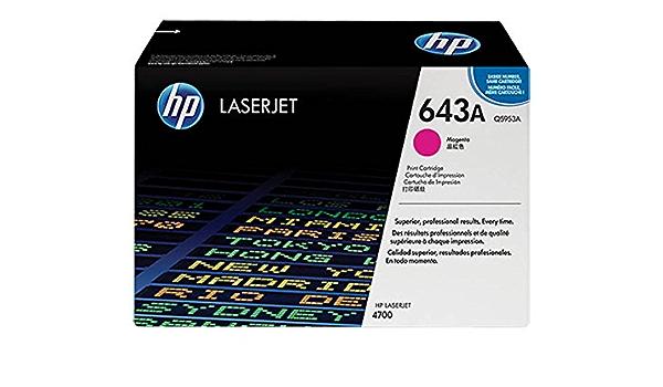Hp Hewlett Packard Color Laserjet 4700 643a Q 5953 A Original Toner Magenta 10 000 Seiten Bürobedarf Schreibwaren