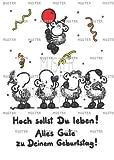 02 - Geburtstagskarte - Hoch sollst Du leben! - Postkarte von Sheepworld