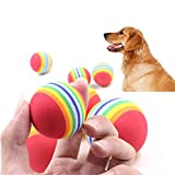 Omiky® 3Pcs hartes Gummiball Haustier-Hundespielzeug-Trainings-Chew-Spiel, das Biss-Spielwaren holt (Mehrfarbig)