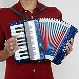 ammoon Mini Kleine 17-key 8-Bass-Akkordeon Educational Musikinstrument Spielzeug für Kinder Kinder Amateur Anfänger Weihnachten Geschenk -